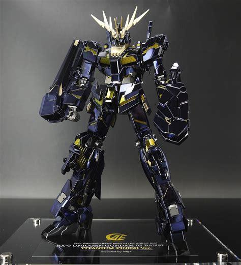 Mg Unicorn Gundam Titanium Finish Green Frame Edition mg 1 100 unicorn gundam 02 banshee titanium finish ver modeled by nagai work