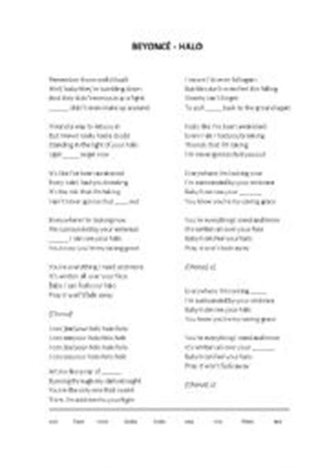 printable halo lyrics downloading halo by beyonce audioget