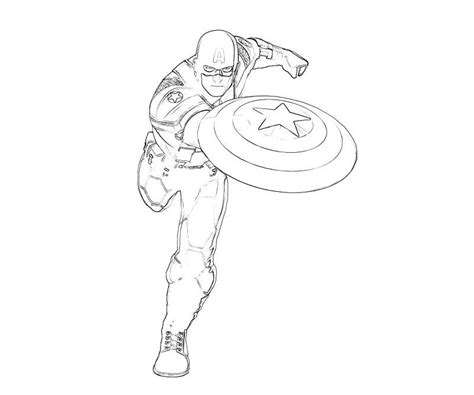 Captain America Coloring Pages For Kids Coloring Home Free Printable Captain America Coloring Pages