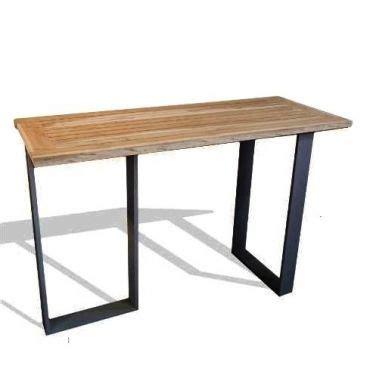 pieds de table haute mange debout 180 cm mange debout table haute et teck