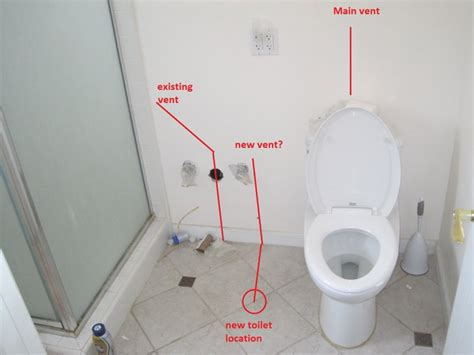 moving plumbing in bathroom moving toilet location and venting terry love plumbing remodel diy professional