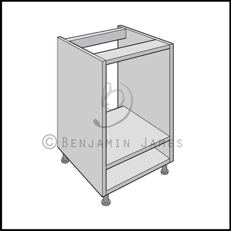 Cupboard Carcasses - kitchen carcass unit built oven cabinet 18mm