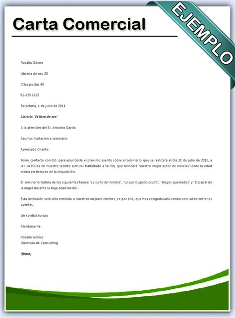 carta formal comercial c 243 mo hacer una carta comercial en word