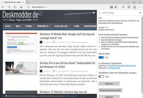 ublock for edge windows 10 adblocker ublock als microsoft edge erweiterung steht zum