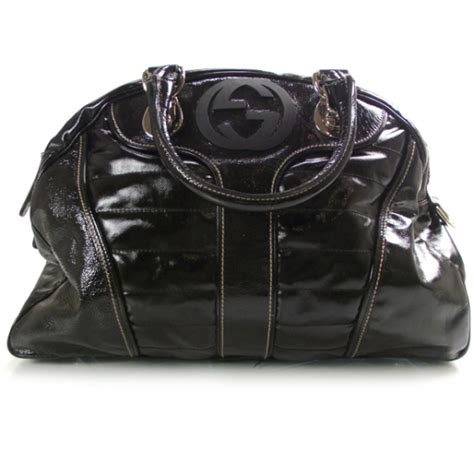 20586 Black Handbag gucci dialux snow glam medium boston black 20586