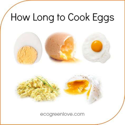 ecogreenlove how long to cook your eggs infographic how do