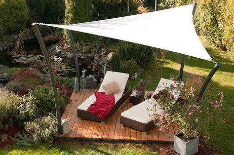 garten lounge ideen bilder segel lounge sonnensegel einfachste installation sitrag