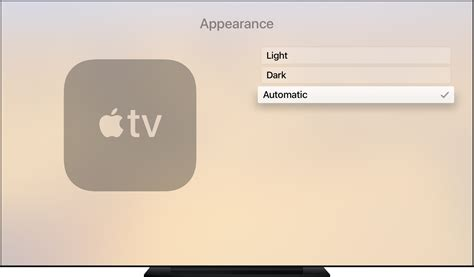 how to set apple tv to automatically switch between light
