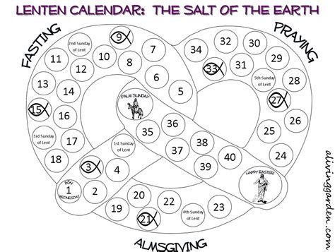 printable calendars for lent