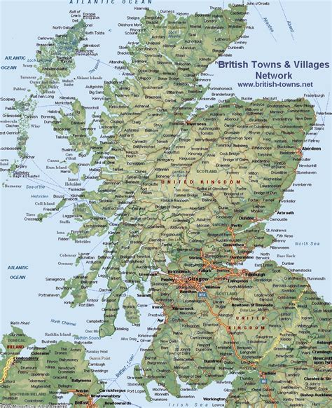 scottland map map of scotland