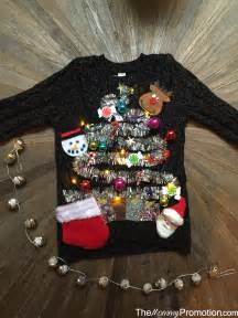 Diy Ugly Christmas Sweater Lights Long Sweater Jacket How To Make Sweaters With Lights