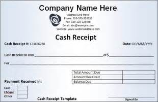 Receipt Of Money Template Receipt Templates Free Word S Templates