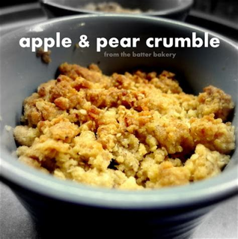 apple pear crumble although you don t see much from the picture all the