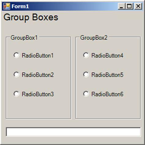 tutorial html radio button vb net group radio buttons