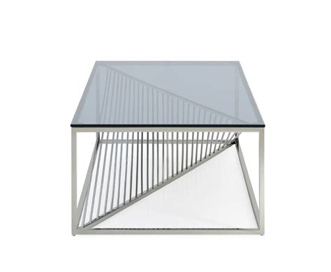 stainless steel coffee table modrest modern glass stainless steel coffee table