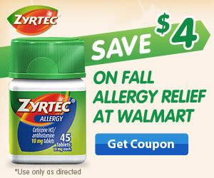 printable zyrtec coupon zyrtec coupons and 100 merry maids giveaway