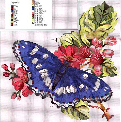 ricerca sui fiori farfalla posata sui fiori magiedifilo it punto croce