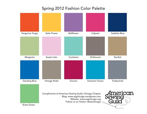 pantone color pallete pantone spring 2012 color palette