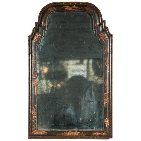 black mirror japan rare queen anne wall mirror of small size at 1stdibs