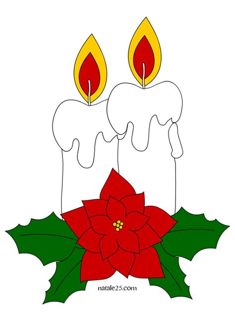 disegni di candele natalizie candele di natale natale 25