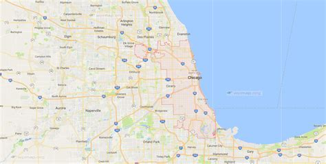 chicago map in usa map of chicago printable map of chicago chicago map usa
