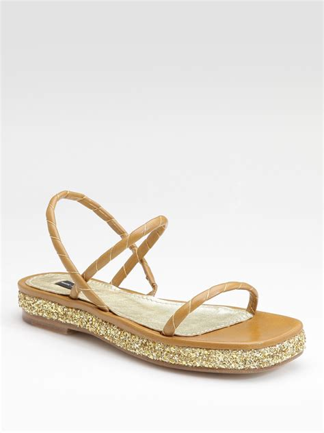 Marc Jabobs Sandals by Marc Flat Sandals In Brown Taupe Lyst