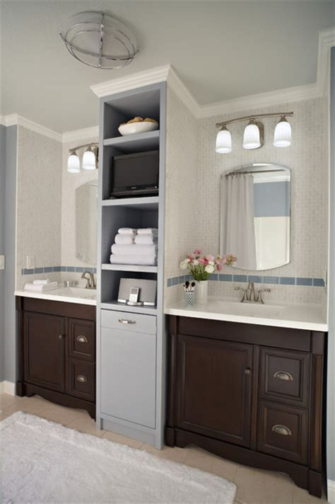 Modern Laundry Hers Bathroom For Two Traditional Bathroom By Lowe S Home Improvement