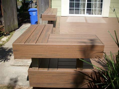tech deck bench timbertech pacific walnut deck deck masters llc portland or