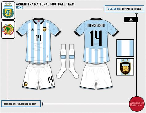 Kaos Lecoq Putih argentina national football team home kit le coq