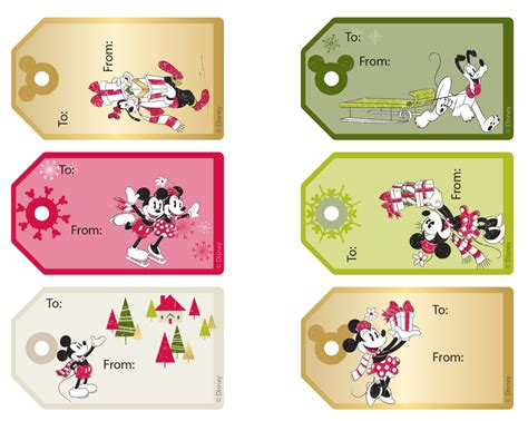 disney holiday gift tags printable wrapping paper and gift tags roundup disney family
