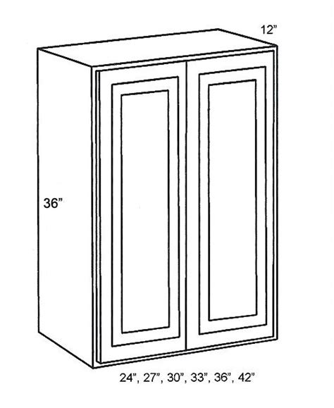 Kitchen Cabinets In Queens Ny by W2436 Wall Cabinets Double Door Wall Cabinet Classic White