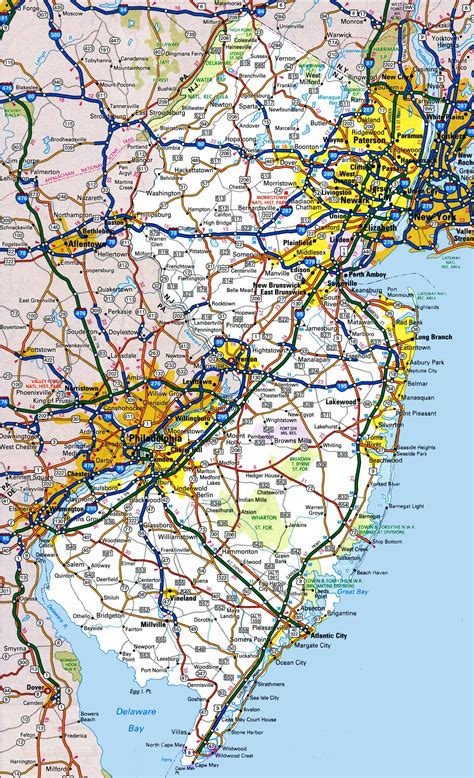 printable road map of delaware new jersey road map