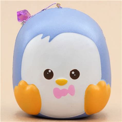 Puni Maru Jumbo Penguin scented blue jumbo penguin with open squishy by puni maru puni maru squishy squishies