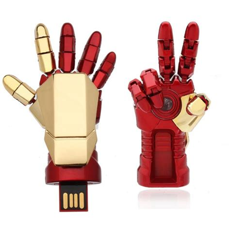 Iron Gloves Usb 2 0 Flashdisk 8g iron usb flash drive metal u disk alexnld
