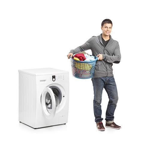 man doing laundry aptsforrent