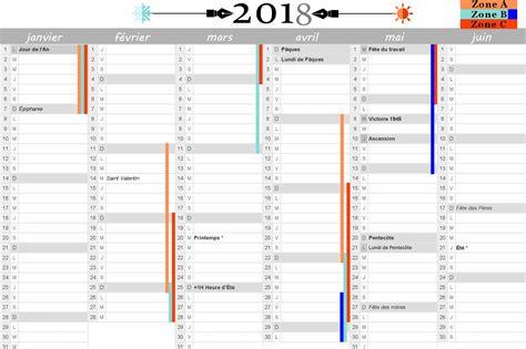 Calendrier 2018 F Ri Calendrier 2018 Excel Avec Vacances Scolaires 28 Images