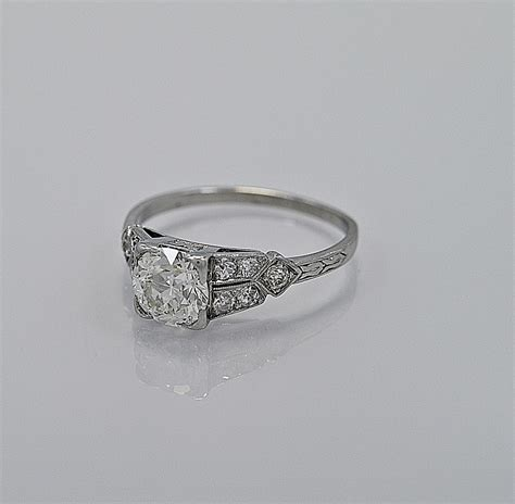 deco platinum wedding band 1 16ct platinum deco engagement ring