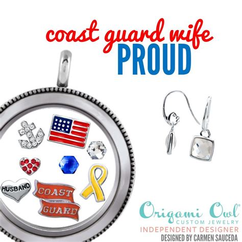 Shop Origami Owl - origami owl coast guard locket with earrings shop my