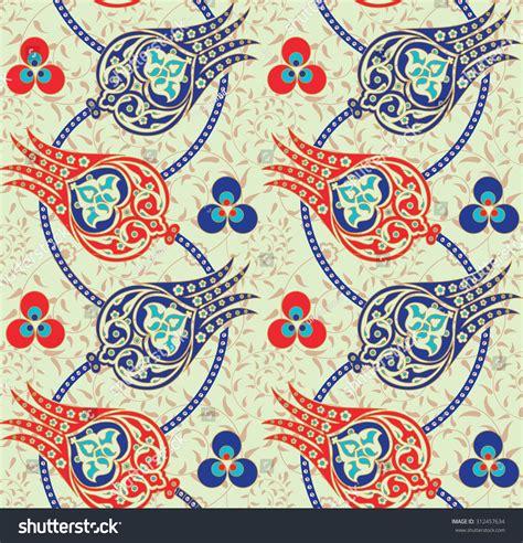 ottoman pattern seamless traditional turkish ottoman floral pattern stock