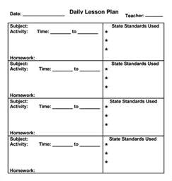 preschool lesson plan template word daily lesson plan template weekly lesson plan template