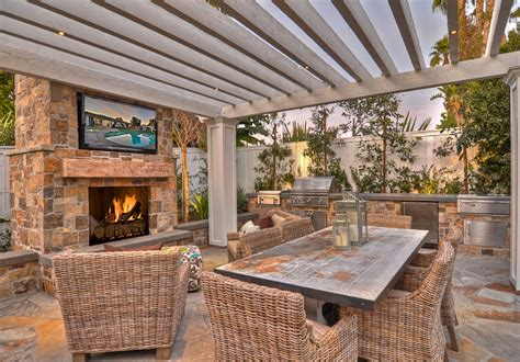 Fireplace And Patio Store by Ranch Style Home With Transitional Coastal Interiors