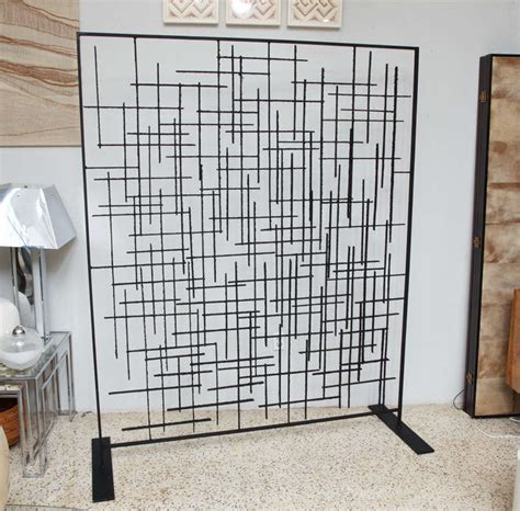 60 s wrought blackened iron room divider at 1stdibs