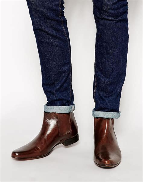 image 1 of asos chelsea boots in leather simon s clothes