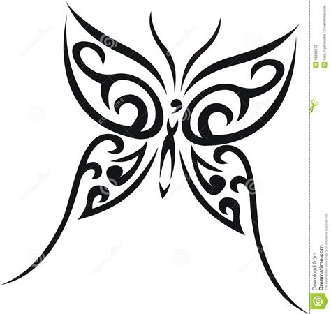 butterfly tribal tattoo stock photos image 10048273