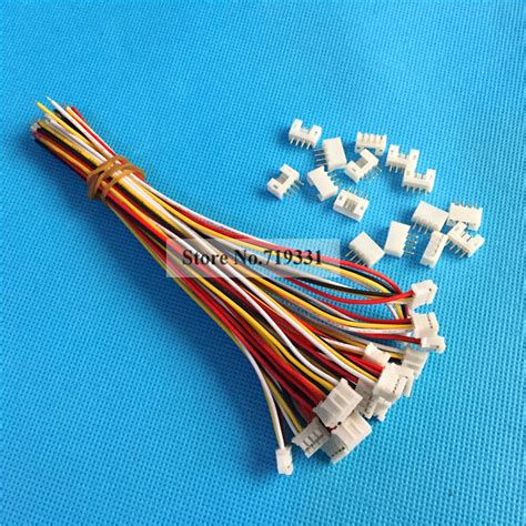 2 0 wire connectors 20 sets micro jst ph 2 0 2 0mm 4 pin connector