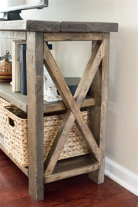 rustic farmhouse console table