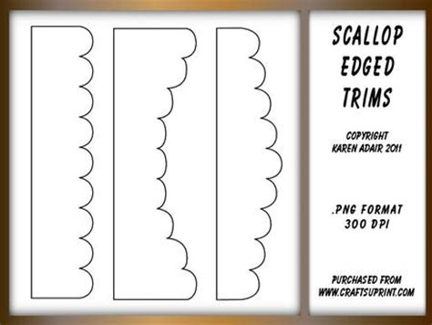 different shaped card templates scallop edged border shapes templates templates for