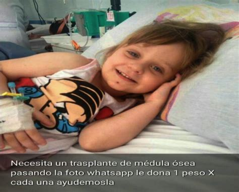 desmienten la cadena de whatsapp de una nena que necesita - Cadena Whatsapp Medula Osea