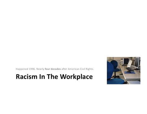 business ethics class presentation racism in workplace