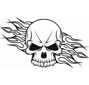 Human Skull With Flames  Stock Vector Colourbox